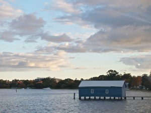 Almost home!  Crawley Boat Shed - Swan River